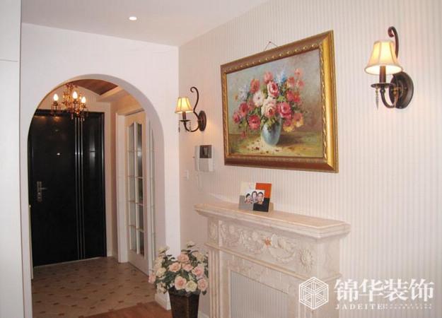 门厅   小别墅的入户花园玄关,白色   可以实现入户直对玄关,
