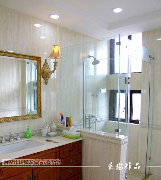 名称 卫生间装修效果图 淋浴房 镇江锦华装饰 高清图片